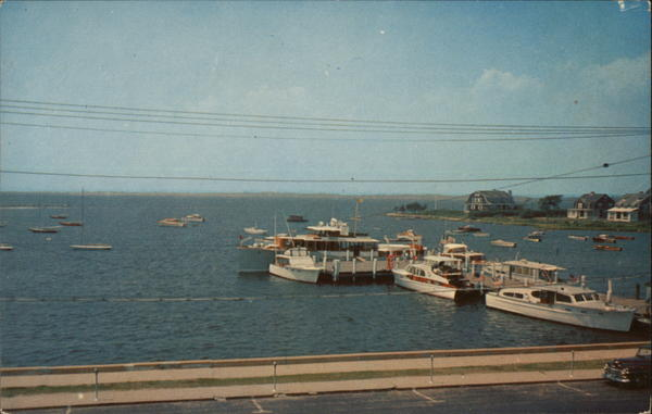 Boats Docked at Little Narragansett Bay Pier Watch Hill Rhode Island