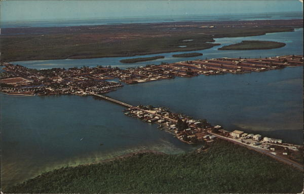 Aerial View of Matlacha Section Fort Myers Florida