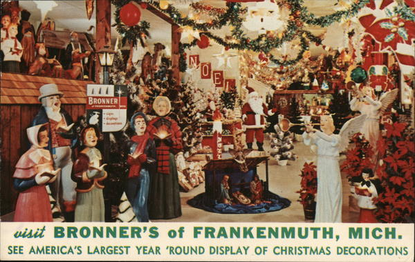 Bronner's Christmas Decorations Frankenmuth Michigan
