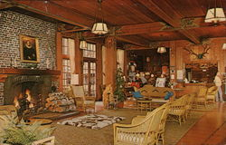 Lobby of Lake Quinalt Lodge