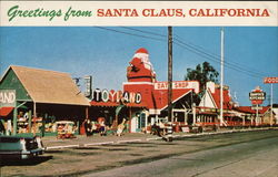Greetings from Santa Claus, California Postcard