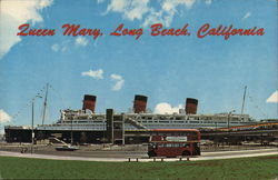 """Queen Mary,"" Located at the Permanent Berth"