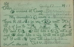 Girl Scout Camp Post Card