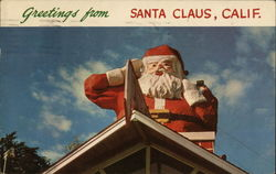 Greetings from Santa Claus Postcard