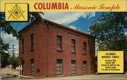 Columbia State Park Masonic Temple Postcard