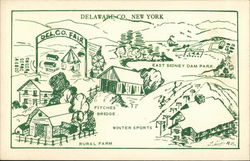 Delaware County, New York Postcard