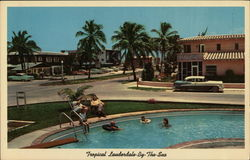 Motel Row Along the Ocean Postcard