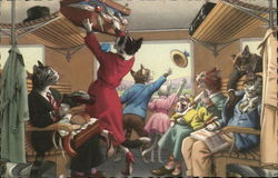 Cats on a Train