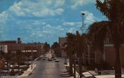First Street in Downtown Ft. Myers, Florida Postcard