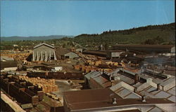 Overview of a Sawmill Postcard