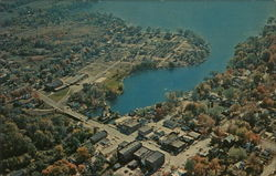 Aerial View of Colon and Palmer Lake Postcard