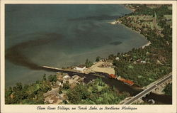 Aerial View of Clam River Village Postcard