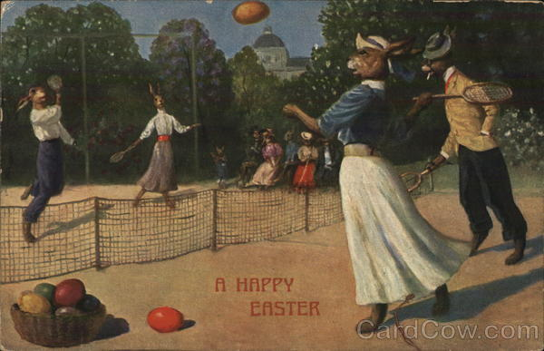 A Happy Easter With Bunnies Tennis