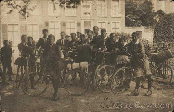 Schoolboys with Bicycles