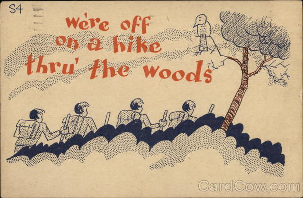 Camp-Toons We're off on a hike thru' the woods Boy Scouts