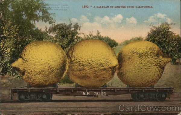 A Carload of Lemons from California Exaggeration