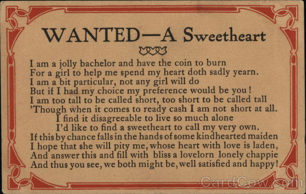 WANTED-A Sweetheart Romance & Love
