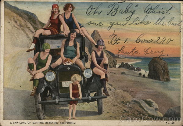 A Car Load of Bathing Beauties, California Swimsuits & Pinup
