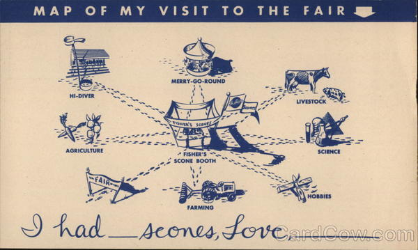 Fisher's Flour, Scones: Map of My Visit to the Fair