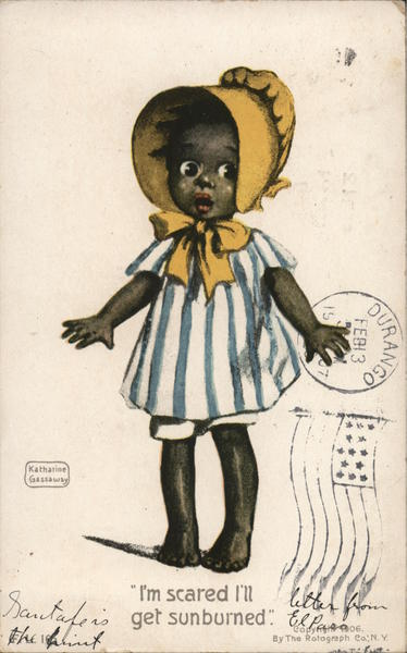 African American Girl Katherine Gassaway Black Americana