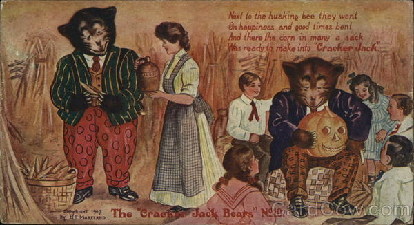 Cracker Jack Bears #10 Advertising Halloween