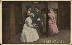 Safe at Last - Women with Typewriter