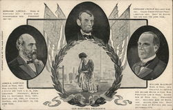 Abraham Lincoln, James Garfield, William McKinley Postcard