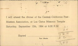 Los Gatos Masonic Temple - Past-Masters Association