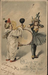 Boy with Drums & Girl in Costume