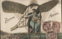 "French Couple in a ""Flying Machine"""