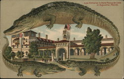S549 Alligator Border Entrance to Hotel Ponce de Leon