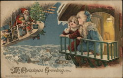 A Christmas Greeting - Santa in Airship
