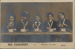 "French Nuns at Convent ""Au Couvent"""