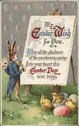 My Easter Wish For you. May all the gladness of the awakening spring into your heart this Easter Day