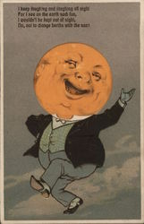 Laughing Moon Postcard