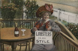 Lobsters in Any Style - Woman with Lobsters