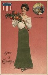 California- Woman with Oranges
