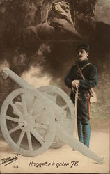 Military Man with Cannon