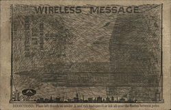 Wireless Novelty Card Showing New York Metropolitan Life Building
