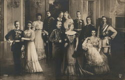 The German Royal Family With Kaiser Wilhelm I in Center