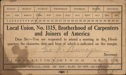 Local Union #1115 Brotherhood of Carpenters & Joiners of America