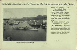 Hamburg-American Line's Cruise to the Mediterranean and the Orient; The Harbor of Villefranche