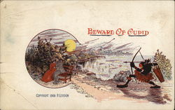 Beware of Cupid Postcard