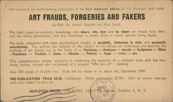 Art Frauds, Forgeries and Fakers