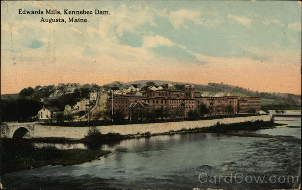 Edwards Mills, Kennebec Dam Augusta Maine