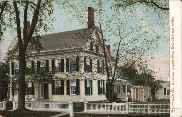 The House in which Uncle Tom's Cabin was Written Brunswick Maine