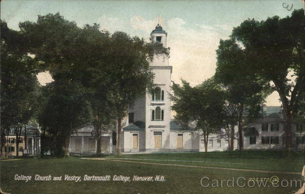 College Church and Vestry, Dartmouth College Hanover New Hampshire