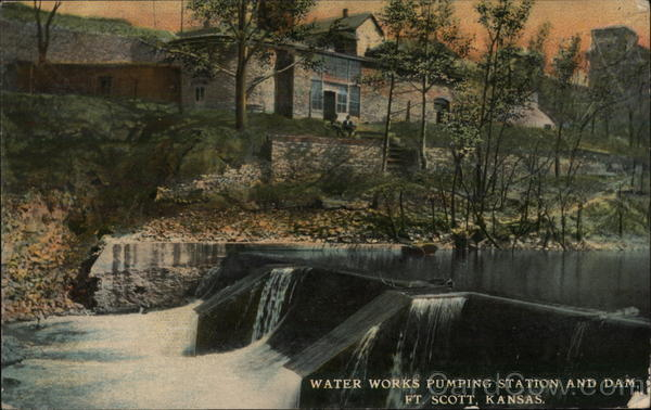 Water Works Pumping Station and Dam Fort Scott Kansas