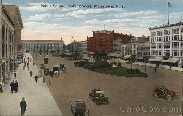 Public Square, Looking West Watertown New York