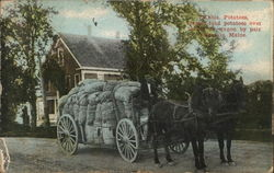Horse-Drawn Cart of Bagged Potatoes